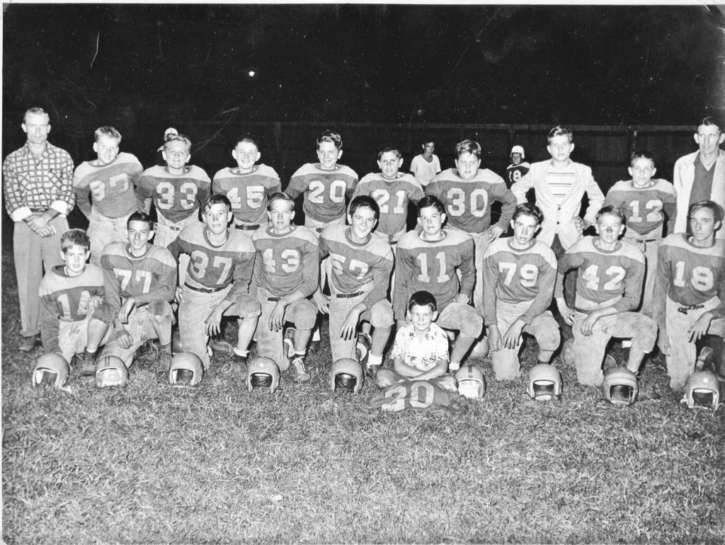 Lions Club went undefeated in1952 football season